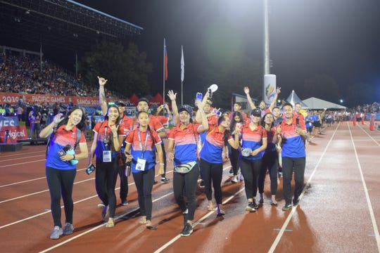 Scenes from the closing ceremonies of the XVI Pacific Games held at Apia Park in Samoa on July 20, 2019.