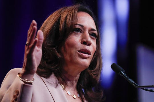 U.S. Sen. Kamala Harris was one of several presidential candidates who spoke at the National Urban League conference in Indianapolis on Friday, July 26, 2019.