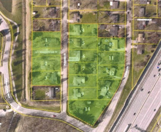 Scannell is buying 14 homes on Meadows Drive and Lantern Road in Fishers so it can build an apartment building