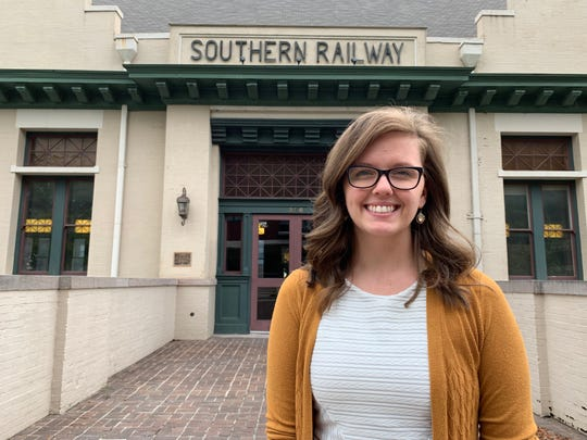 Nicole Threadgill stands outside the Knoxville Historic Southern Railway Station on July 23, 2019.  She wants people to walk away from the Love WINS Wedding Expo feeling empowered.