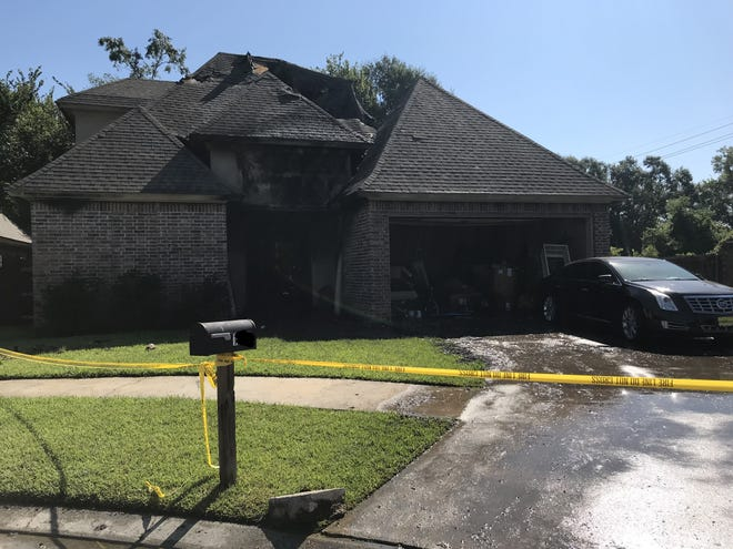 A home was heavily damaged by a fire that Lafayette Fire Department investigators believe was set by arson.