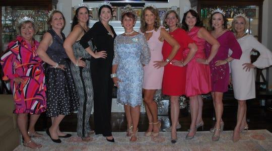Xanadu XXX Royalty Court - Kimi Hargrave, Susan Doucet, Amy Hanna, Kathryn Arsement, Queen Cindy Cobb, Denise Durel, Shari Y. Saloom, Kristy Sturm, Cynthia Kay Self, and Colleen Orgeron.