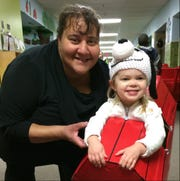 Lori Ireland and Brynn Carey, 2, dressed as Snoopy, at a 2014 Halloween party. Ireland cared for Brynn and her brother as infants. Ireland died July 18, 2019.