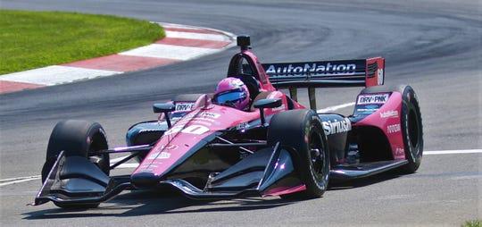 Jack Harvey drives his No. 60AutoNation SiriusXM Honda for hometown team Meyer Shank Racing co-owned by Michael Shank, a Columbus, Ohio native.