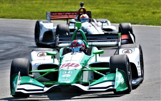 Colton Herta ofHarding Steinbrenner Racing, ran the fastest lap of Day 1 practice completing the2.258-mile road course in 1:05.7292.