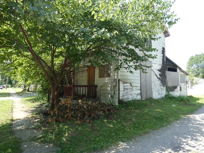 The Marion County land bank plans to tear down 255 Barnhart St., Marion, one of the last properties it plans to tear down as part of an Ohio program to tear down blighted houses.