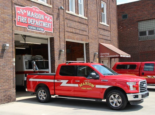 New Marion firefighters make less than $15 an hour, a lower starting pay rate than city parks laborers earn.