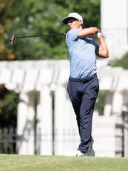Thorbjørn Olesen takes his shot off the tee at No. 16  during the first round of the 2019 World Golf Championships FedEx St. Jude Invitational at TPC Southwind on Thursday, July 25, 2019.