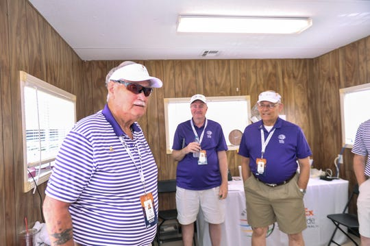 Larry Ratliff is chairman of player transportation at the invitational, a volunteer position