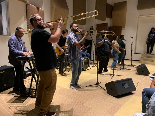 Stax Music Academy students and alum join in performing soulful classics with Kameron Whalum, Bruno Mars' backup singer and trombone player. Whalum, 30, hosted Kickin' It with Kameron this summer after he toured across the globe for two years.