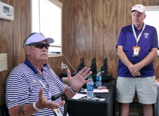 Larry Ratliff is chairman of player transportation at the invitational, a volunteer position.