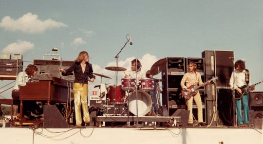 SRC performs at the Midwest Rock Festival, a three-day event at Wisconsin State Fair Park July 25-27, 1969.
