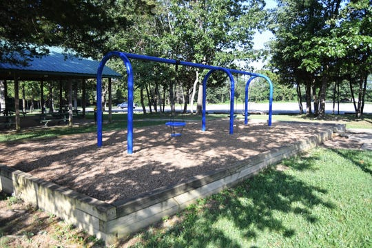 The Keller Park playground area, which consists of three swings, would receive additional playground equipment if the City of Mountain Home is approved for a state grant.