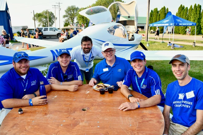 About 50 alumni from MTSU's Aerospace Department attended a special event Wednesday night on the grounds of EAA AirVenture, the largest air show of its kind in the world.