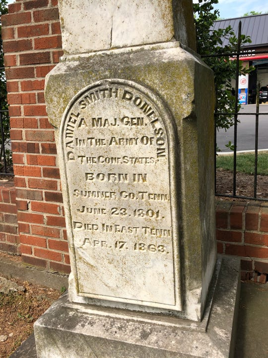 The grave of Gen. Daniel Smith Donelson is one of the most well known at the cemetery next to First Presbyterian Church in Hendersonville.