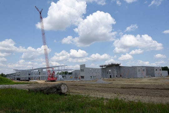 Work continues on the new Licking Heights High School near the intersection of Cable Road Southwest and Summit Road Southwest.