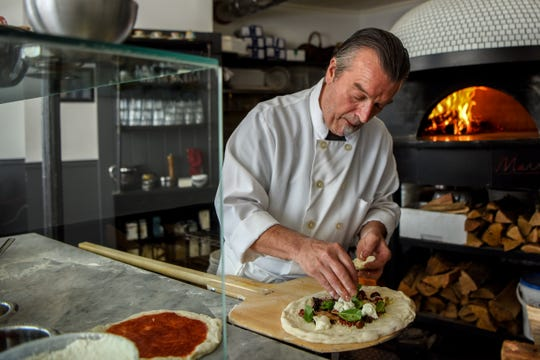 Bivio Pizza Napoletana in Montclair   on Thursday July 25, 2019. Tomasso Colao, co-owner of the restaurant makes a pizza.