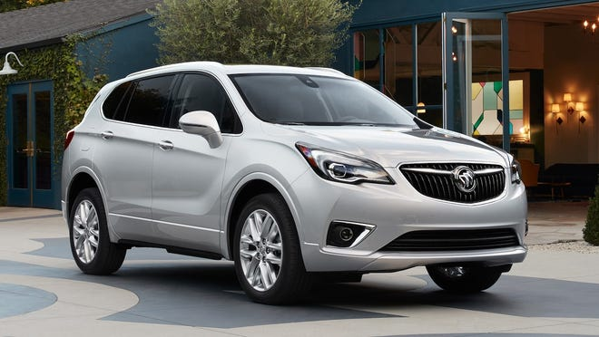 The 2019 Buick Envision is powered by a turbocharged 2.0-liter, four-cylinder engine that makes 252 horsepower and 295 pound-feet of torque. A nine-speed automatic transmission sends the power to the pavement.