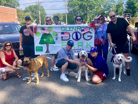 Glen Rock Dog Park members were among the participants in Glen Rock's July 4th parade.