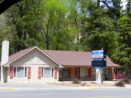 The Ruidoso Valley Chamber of Commerce operates two visitor centers for the village. The photo is of the chamber office and visitor's center on Sudderth Drive in Ruidoso.