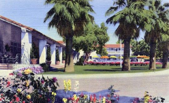 The gardens at the Desert Inn.