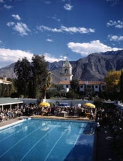 El Mirador pool and grounds with a spectacular mountain view.