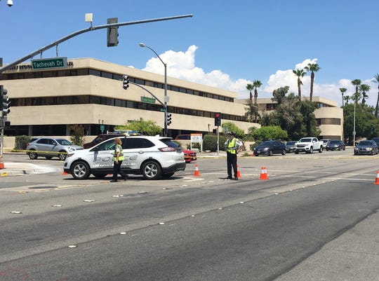 A pedestrian was struck and killed by a bus in Palm Springs on Friday morning, July 26, 2019, police said. Lanes in both directions were closed on North Indian Canyon Drive between Tachevah Drive and East El Alameda.