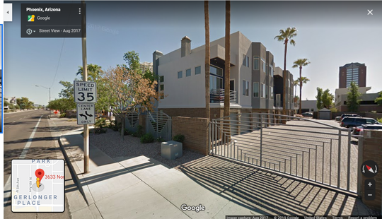 Google street view of 3rd Avenue Palms Condominiums in Phoenix.