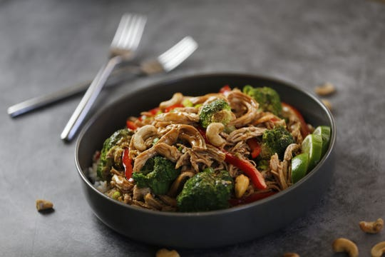No Cook Cashew Chicken with Broccoli and Bell Pepper at Robin Miller's home in Scottsdale, Ariz. on June 21, 2019.