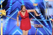"""Melissa Arleth from Phoenix brings her rat talent show to NBC's """"America's Got Talent"""" during Episode 1404, """"Auditions 4."""""""