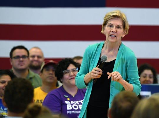 Elizabeth Warren, precandidata demócrata a la presidencia de EEUU.