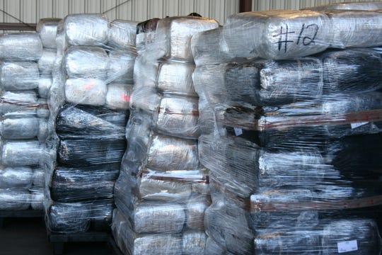 Imagen de un cargamento de drogas confiscado en la frontera. Foto archivo.