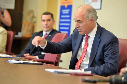Sen. Bob Casey, D-Pa., talks about his opposition to measures that sabotage efforts to provide health care to Americans. The U.S. lawmaker was at Chambersburg Hospital July 26, 2019, to discuss health care in rural communities.