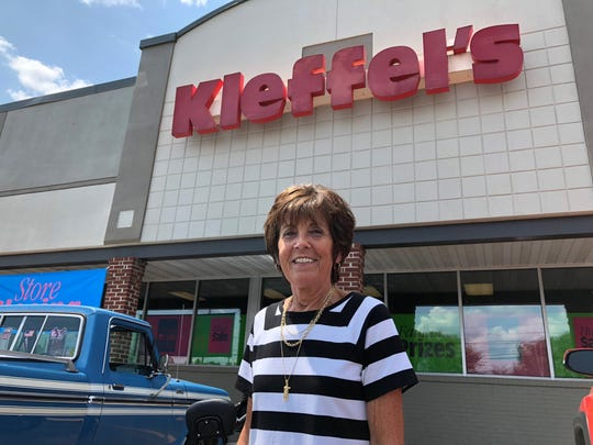 Sally Grim, manager of longtime Hanover department store Kleffel's, reflects on her 45 years at the company as it prepares to close its doors.   A final sale began Thursday, July 25, and customers will be able to log shopping points towards a prize giveaway Sept. 7.