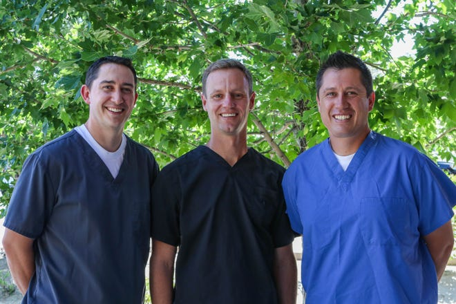 Dentists Kevin Olson, Jeremy John and Andy Ingersoll will treat patients at the new Dayton practice.