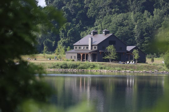 The home is close to the lake that was once part of a quarry.