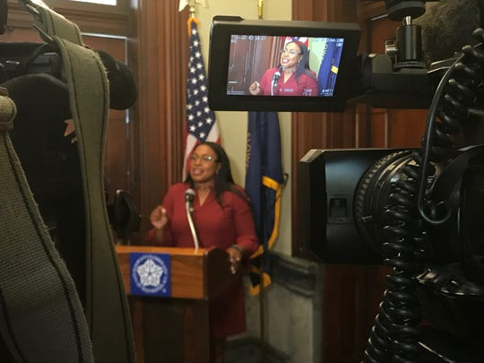 "Mayor Lovely Warren said the school district's attempts to block a November referendum on the future of city schools was ""a Hail Mary play,"" when speaking Friday, July 26, 2019, outside her office at City Hall."