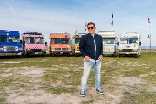 """Tyler Florence, host of """"The Great Food Truck Race"""" on Food Network."""