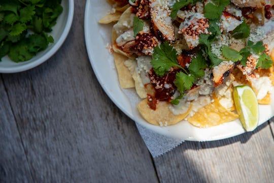 Team Taco's nacho plate (with the Redbird chicken option).