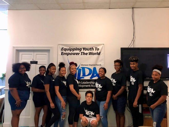 Members of the 2019 Youth Leadership and Development Academy, from left to right: Mikerah Wilmot, Jade Dillard-Harmon, Jayden Dillard-Harmon, Daytyia Chisley, Janyia Nelson, Dashawn Shifflett, Tiliyah Hodgins, Nia Rogers, Troy Blair and Eliyrah Ware.