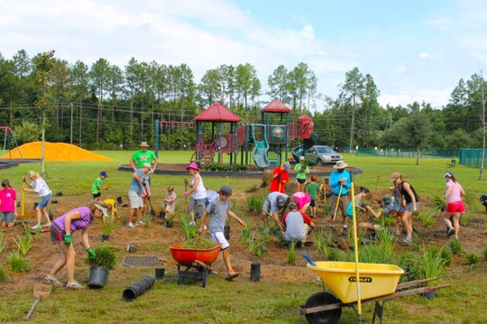 Community working together to create Green Infrastructure.