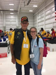 Carmen French and Tommy Sims during the Honor Flight trip.