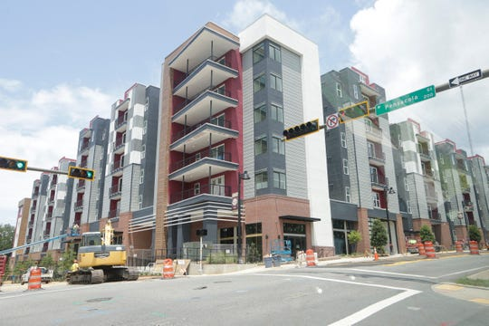 The Nine, located at the corner of West Pensacola Street and South Woodward Avenue, is one of the new student housing complexes expected to open before students arrive for the fall semester.