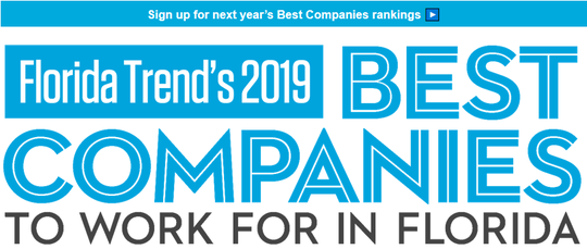 Three Tallahassee-based companies are listed in Florida Trend's 2019 Best Companies to Work For in Florida listing