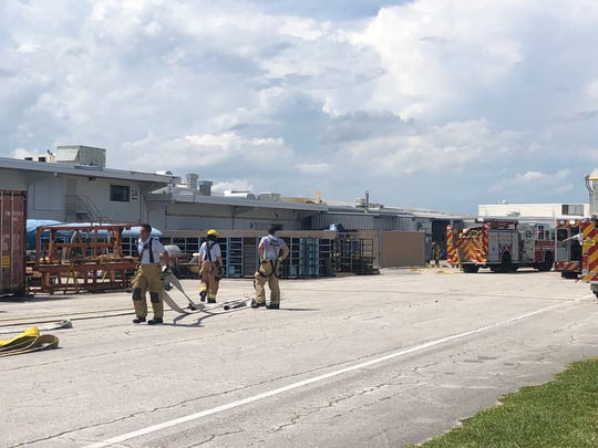 Firefighters went to Piper Aircraft in Vero Beach Friday after a fire in a building forced employees to evacuate. No one was injured.
