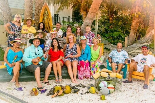 Main Street Fort Pierce Reverse Raffle Committee members, from left, front row, Dory Aguero Mahoney, Jeremiah Johnson, Dana McSweeney, Deb Cohn, Leslie Briganti, Frank Briganti and Charlie Hayek; middle row, Pam Gillette and Pat Bercier; and back row, Donna Sizemore, Jerry Earley, Michelle Miller, Britt Reynolds, Robyn Hutchinson, Michelle Cavalcanti and Dixie Parkin.
