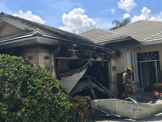 Firefighters said one man was displaced after the home fire Friday morning.