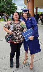 Christine Brady and Amber Smith at Smith's May 3 graduation.