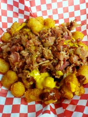 Deep-fried tater tots loaded with nacho cheese, chili and bacon will be one of the new food offerings at the Ventura County Fair.