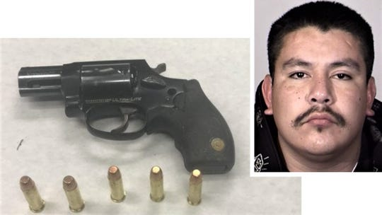 Oxnard police said they arrested  Jorge Ortiz after he ran and discarded a gun.